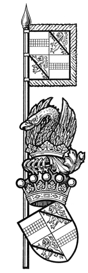 Lord Crawford's banner and arms (after Frank Adam, 1977, p515).